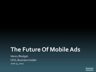 The Future Of Mobile Ads