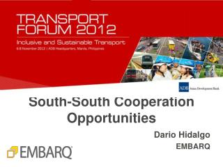 South-South Cooperation Opportunities