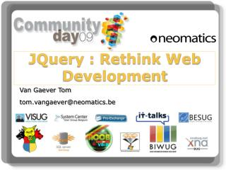 JQuery : Rethink Web Development