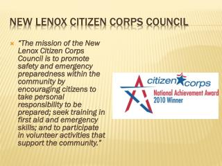 New Lenox Citizen Corps Council