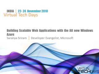 Building  Scalable Web Applications with the All new Windows  Azure