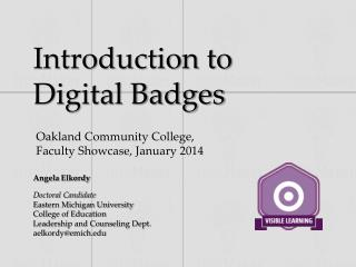Introduction to Digital Badges