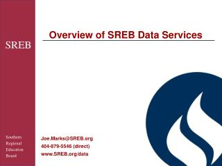 Overview of SREB Data Services