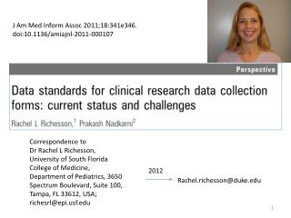 Correspondence to Dr Rachel L Richesson, University of South Florida College of Medicine,