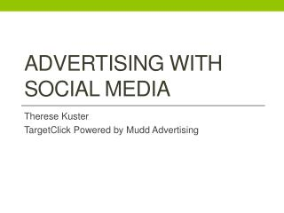 Advertising with Social media