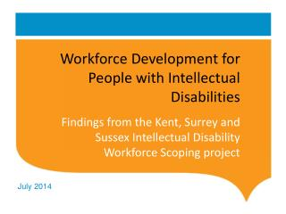 Workforce Development for People with Intellectual Disabilities