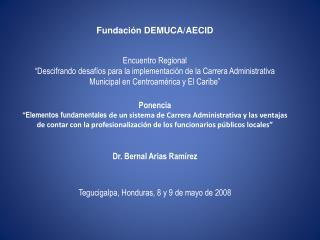 Fundación DEMUCA/AECID Encuentro Regional