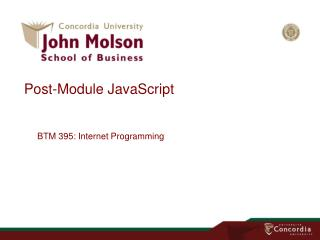 Post-Module JavaScript