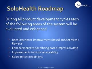 SoloHealth Roadmap