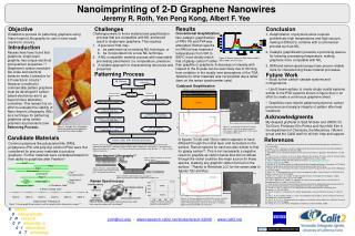 Nanoimprinting of 2-D Graphene Nanowires
