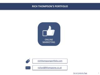 RICH THOMPSON'S PORTFOLIO