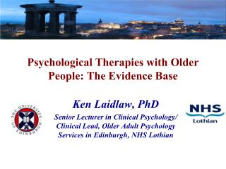 Psychological Therapies with Older People: The Evidence Base
