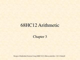 68HC12 Arithmetic