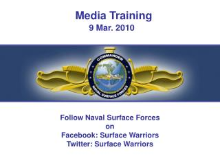 Media Training 9 Mar. 2010