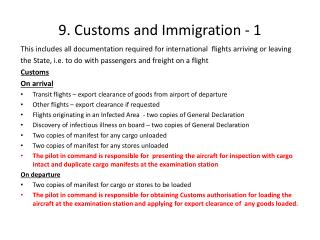 9. Customs and Immigration - 1