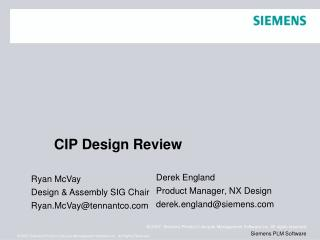 CIP Design Review