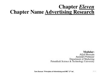 """Tom Duncan """"Principles of Advertising and IMC"""" 2 nd  ed."""