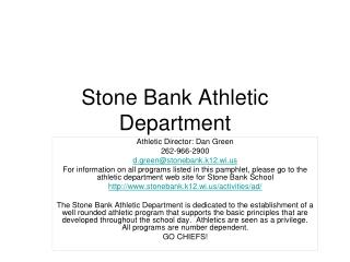 Stone Bank Athletic Department