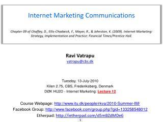 Internet Marketing Communications