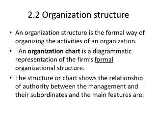 2.2 Organization structure