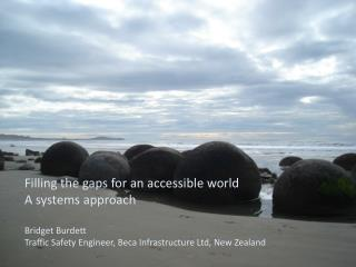 Filling the gaps for an accessible world A systems approach Bridget Burdett