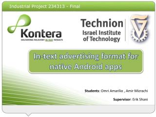 In-Text Ads the Mobile Web