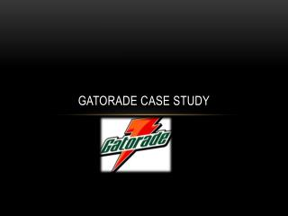 Gatorade Case Study