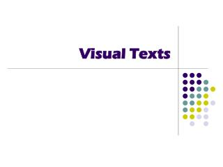Visual Texts