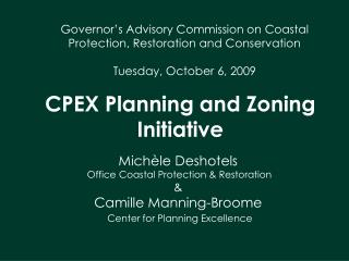 CPEX Planning and Zoning Initiative