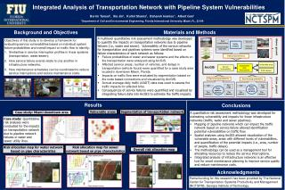 Integrated  Analysis  of  Transportation Network  with  Pipeline  System Vulnerabilities