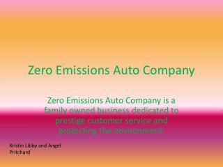 Zero Emissions Auto Company