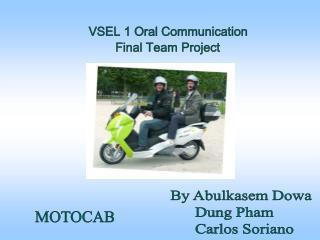 VSEL 1 Oral Communication  Final Team Project