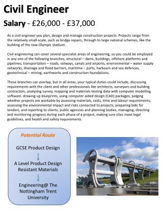 Potential Route GCSE Product Design A Level Product Design  Resistant Materials