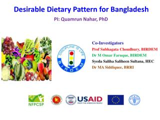 Desirable Dietary Pattern for Bangladesh