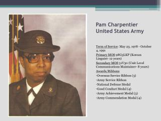 Pam  Charpentier United States Army