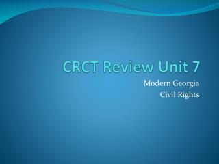 CRCT Review Unit 7