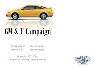 GM & U Campaign