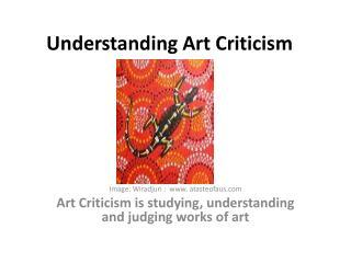Understanding Art Criticism