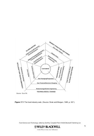 Figure 17.1  The food industry web. (Source: Strak and Morgan, 1995, p. 337.)
