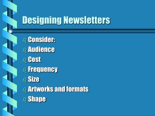 Designing Newsletters