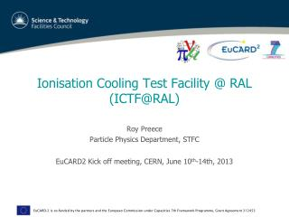 Ionisation Cooling Test Facility @ RAL (ICTF@RAL)