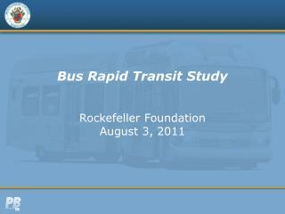 Bus Rapid Transit Study