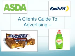 A Clients Guide To Advertising –