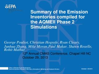Summary of the Emission Inventories compiled for the AQMEII Phase 2 Simulations