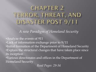 Chapter 2  Terror, Threat, and Disaster Post 9/11