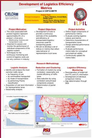 Development of Logistics Efficiency Metrics Project  #  CDP10-METR