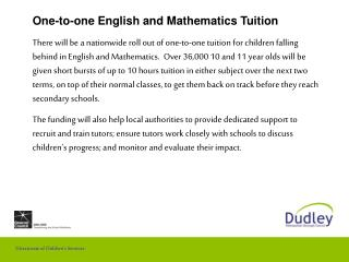 One-to-one English and Mathematics Tuition