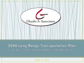 2040 Long Range Transportation Plan for Volusia Transportation Planning Organization