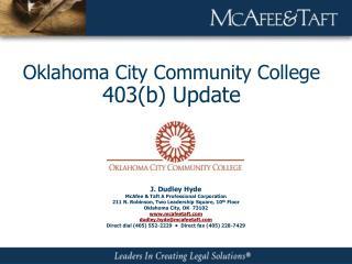 Oklahoma City Community College 403b Update