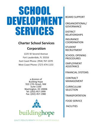 School Development services